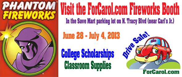ForCarol Fireworks Booth 2013