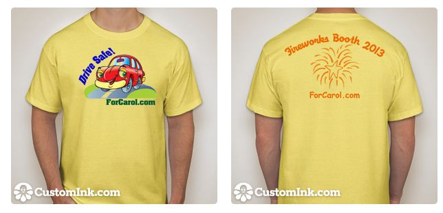 fireworks tshirt front and back