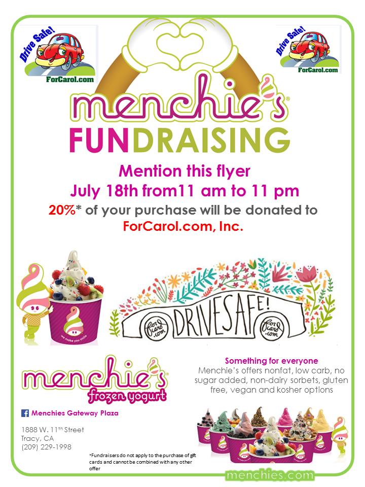 MENCHIE'S FUNDRAISING FLYER -Forcarol.com,inc.