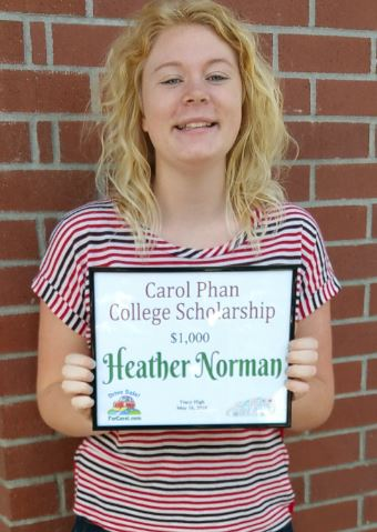 heather with certificate