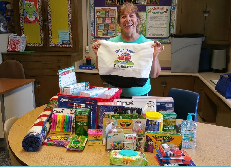The Inman Family donated so many supplies. They said I could pick a lower income school teacher for one of their donations. Since I subbed in Ms. Somogyi's class many times.....I picked Central Elementary.